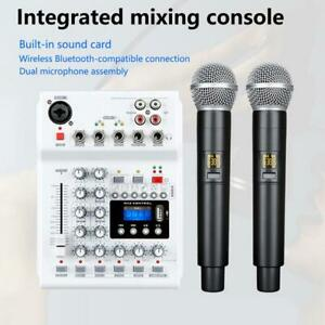 Solid Wireless Console Mixer Audio Soundcard Mixing Console Fit Smartphones