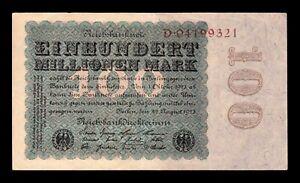 B-D-M Alemania Germany 100000000 Mark 1923 Pick 107a EBC XF