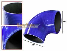 "2.5"" Silicone Hose/Intercooler Pipe Elbow Coupler BLUE For Nissan/Datsun"