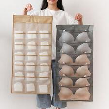 KF_ PW_ 15/24/30 Pocket Wardrobe Hanging Bag Socks Bra Underwear Storage Pouch