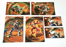 6 x LEGO Life On Mars Instruction Booklets / Manuals Vintage Instructions Space