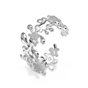 Lucy Q Hinged Splat Bangle - Sterling Silver, Made in the UK - Brand New & Boxed