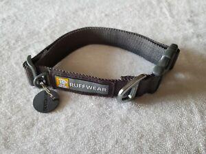 "Ruffwear Front Range Dog Collar Medium 14"" to 20"" Gray"