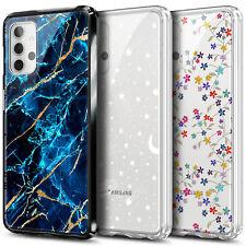 Funda para Samsung Galaxy A32 5G Transparente Duro PC Cubierta Del Teléfono + Vidrio Templado