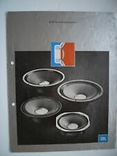 JBL K 100  ILLUSTRATED VINTAGE PRODUCT BROCHURE/UK 1978 PRICE LIST,4x A4 USA