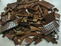 200 Random LEGO Brown Bulk Lot of Bricks Plates Specialty Parts Pieces