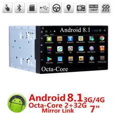 "New Car Android 8.0 7"" Stereo Radio 2DIN 2G RAM GPS MP3 Player Octa-Core DAB"