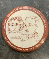 Vintage National Committee To Reopen The Rosenberg Case Pinback Button