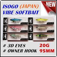 6x Japan 95mm 20g Soft Plastic Fishing Lures Vibe Vibes Jew King Barra Flathead