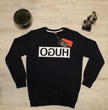 HUGO Boss Sweatshirt Herren Reversed-Logo Pullover Navy Blau Gr. S und XL