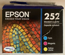 3 Pack Epson 252 Color Ink Cartridges Cyan Magenta Yellow EXP 4/2023