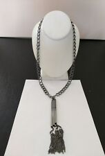 """Premier Designs Jewelry INTO THE SWING 30"""" Hematite Plated Necklace NWOT"""