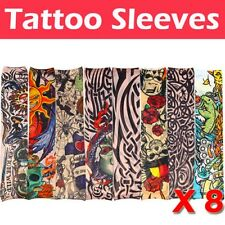 8 Pcs Nylon Adjustable Tattoo Sleeves Goth Punk Excellent Accessory