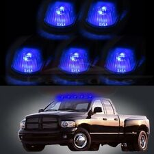 Blue Cab Marker Clearance Light Clear Covers W Base Housing For 80-97 Ford F-150