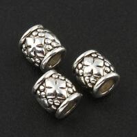 30 Metallperlen Spacer Silber 6mm Zwischenteil für Schmuck Versilbert BEST F120