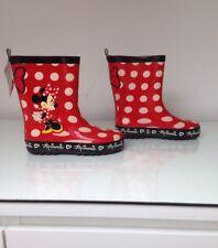 BNWT Ragazze Disney Minnie Mouse Stivali da neve in gomma 3D Stivali Di Gomma Misura UK 11.5