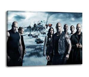"""FAST AND THE FURIOUS 8 CANVAS Fate Poster Photo Print Wall Art """"30x""""20 CANVAS"""