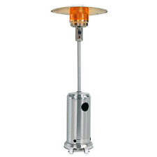 Glow Warm Deluxe Gas Patio Heater 13kw in Stainless Steel