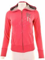 AMERICAN EAGLE Womens Hoodie Sweater Size 6 XS Pink Cotton  LM05