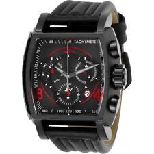S1-Invicta ралли 27947 мужская черная натуральная кожа часы хронограф