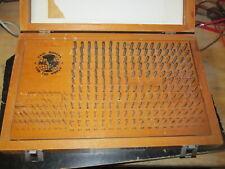 Meyer C 10 011 250 Plus Pin Gage Set In Wood Case Few Missing