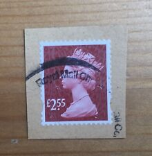 GB Used Stamp £2.55 Garnet Red M17 2017 HIGH VALUE DEFINITIVE Security Rare