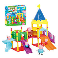 Peppa Pig Playset Playgroud Slide Park with figures Xmas Gift Kid Toy Children