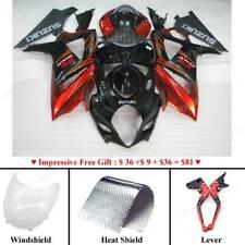 ABS Fairing Bodywork Plastic Kits Set For Suzuki GSXR1000 2007-2008 Red Black