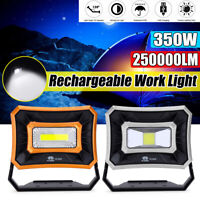 50W COB LED Light Camping Rechargeable Work Torches USB Floodlig Lamp  #~