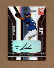 2004 Donruss Elite Extra Edition #256 Jorge Vasquez Autograph Card 0336/1000 RC