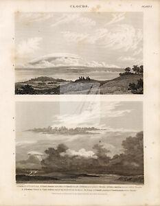 VINTAGE Clouds Print - Rees' Encyclopedia 1800s #G193