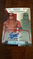 2012 TRISTAR TNA REFLEXXIONS IMPACT AUTO SIGNED CARD SCOTT STEINER WWE WWF 11/25