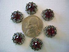 2 Hole Slider Beads Scalloped Daisy Red Crystal Made with Swarovski Elements #6