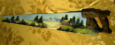 VINTAGE HANDPAINTED SAW BLADE COUNTRY SCENERY MOUNTAINS SIGNED