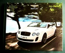 BENTLEY BROCHURE 2012 UK DEALER PRE-OWNED BOOK. Arnage/ Brooklands / 51 Cont GT