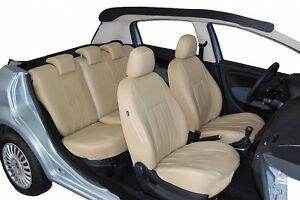Audi A2 Maßgefertigte Autositzbezüge Sitzbezüge Kunstleder in Beige
