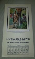 Vintage 1920 Calendar sample Mcmillen & Lewis Farm Machinery Gas Engines Tractor