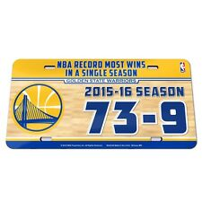 NBA Golden State Warriors Most Wins In A Season 2015-16 Crystal Cut License 12x6