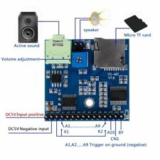 MP3 Voice Module SD/TF Voice Broadcast Trigger Player + Speaker F SCM MCU UI
