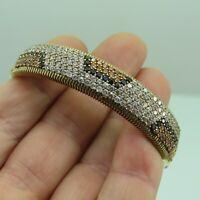 Turkish Handmade Jewelry 925 Sterling Silver Quartz Stone Women Bangle