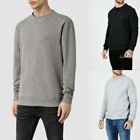 All Saints Mens Wilde Designer Regular Fit Crew Neck Sweatshirt Sweater Jumper