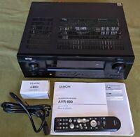 Denon AVR-890 7.1 A/V Multi-Zone Home Theater Receiver, 1080p, 105W, Works Great