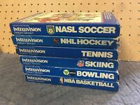 Lot Of 6 Sports Network Games Intellivision All Complete