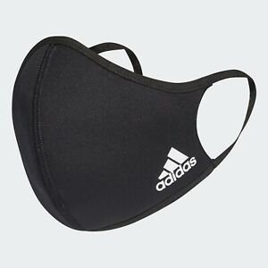 adidas Face Mask Cover (3 Pack) Size M/L - Black - Brand New