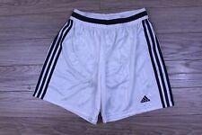 Vtg Adidas Men Training Shorts Football Blue White Firebird Made in UK Size L