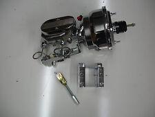 "1955 1956 1957 chrome brake booster master includes disc drum pro valve 8"" DUAL"