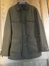 EAST POLE 100% Cotton Khaki Jacket Machine Washable Size M Lovely Condition