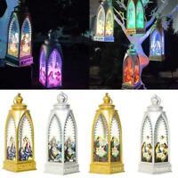 Christmas Jesus Candlestick Hanging Light Pendant Table Lamp Decor Ornament P1G1