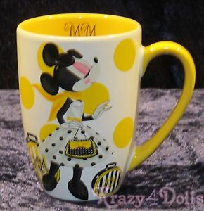 Disney Designer Signature Doll Collection Minnie Mouse Polka Dot Mug NEW!