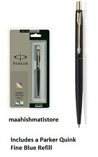 Parker Classic Matte Black GT Gold Trim Ball Pen New With Free Shipping